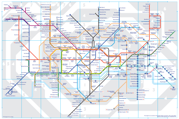 Mapa Zonas Londres